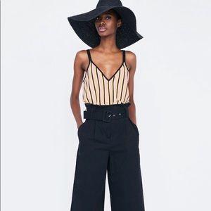 Zara Woman Vertical Striped Tank Top. Size Small.